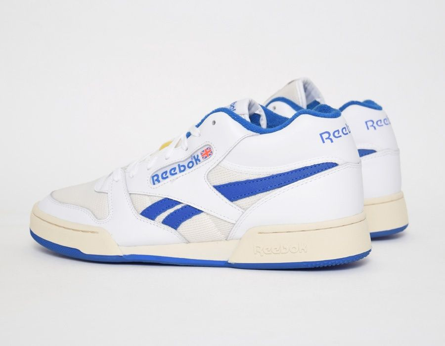 0f010e0b2c05  Reebok Phase Comfort White Blue  sneakers Blue Sneakers