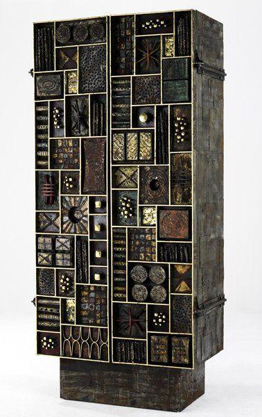 PAUL EVANS Two door vertical Sculpture Front cabinet