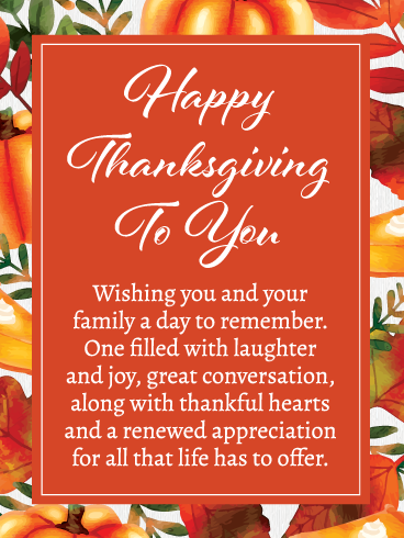With a Thankful Heart  Thanksgiving  Thank You  Love  Blank Greeting Card