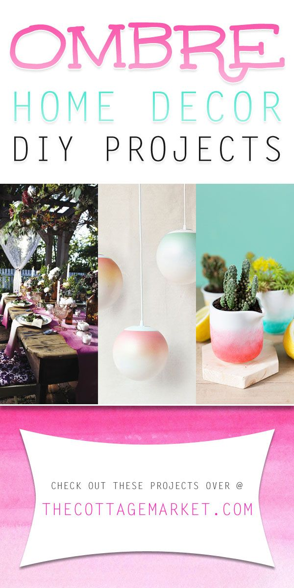 Ombre Home Decor DIY Projects - The Cottage Market #OmbreHomeDecorDIY, #OmbreHomeDecorDIYProjects, #OmbreDIY, #OmbreProject, #OmbreCrafts, #OmbreCraftDIY, #OmbreTutorials, #OmbreTutorialDIY
