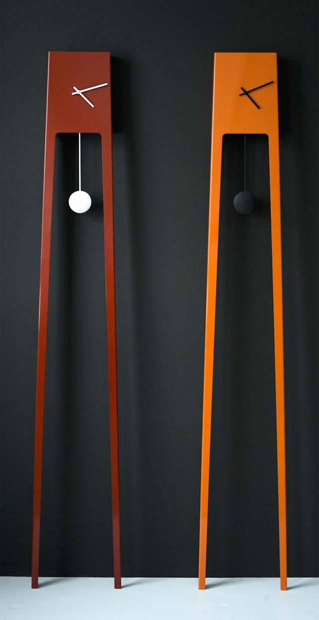 Tiuku Clock by Finnish designer Ari Kanerva, intended as a contemporary minimalist version of the grandfather clock.