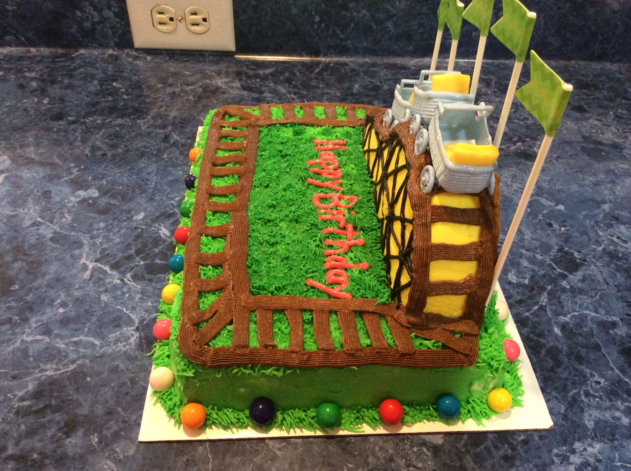 Roller coaster cake   Roller coaster cake, Cake, Cake ...