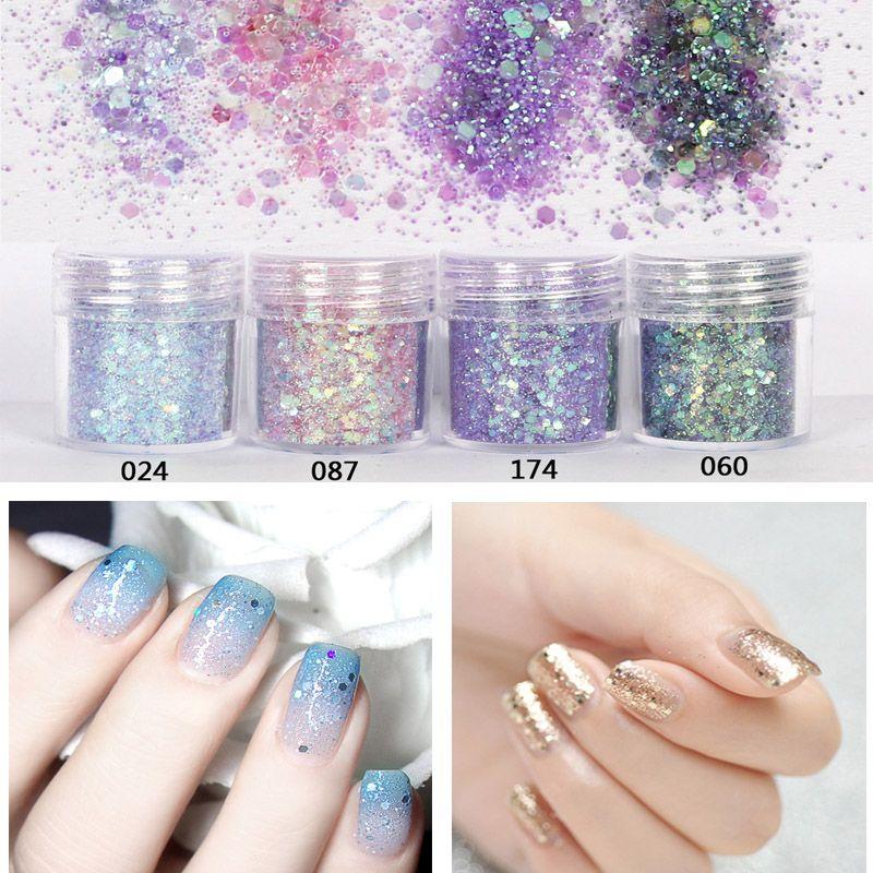 4pcs/ pack New Fashion Nail Art DIY Kit Decoration Cosmetic Glow ...