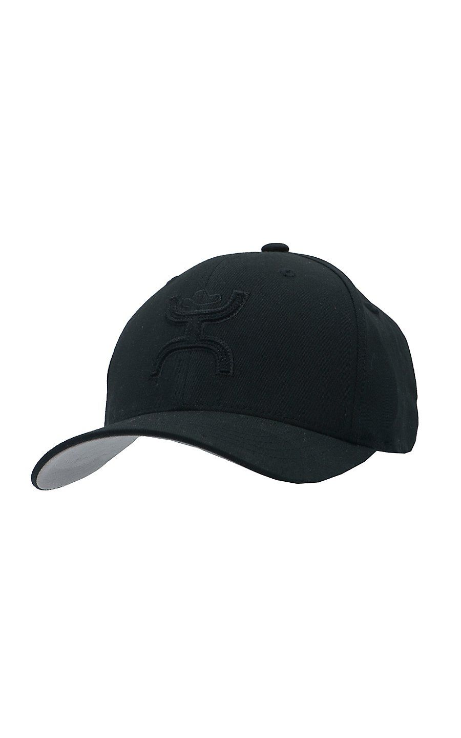 8f9244bac70 HOOey Black Stealth Two Tone Cowboy Logo Flex Fit Cap | Cowboy Hats ...
