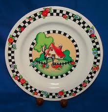 Mary Engelbreit House Plate Hand Painted Ceramics Mary