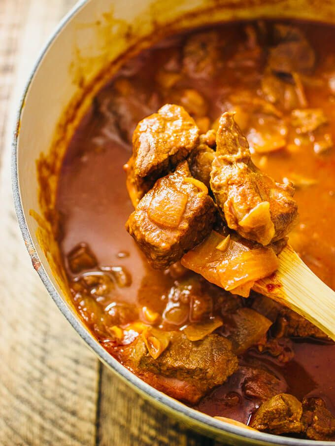 Hungarian Beef Goulash Is A Spicy Beef Stew With Onions And Paprika Here S An Easy Recipe For This Classic Dish Where Everyt Beef Goulash Recipes Meat Recipes