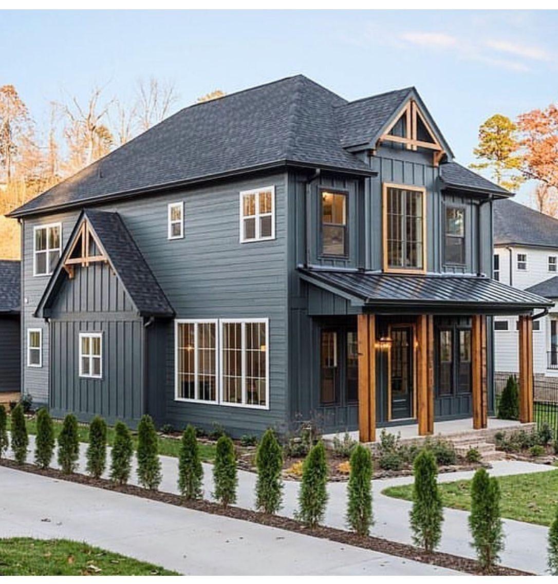 Pin by Rachel on House ideas Modern farmhouse exterior