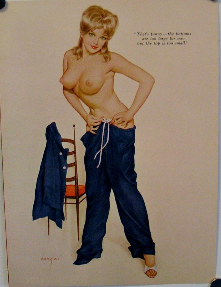 Original, November 1962, Vargas Pin Up Print. Playboy. Pin Up Art. #30