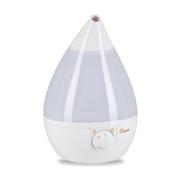 Crane Ultrasonic Cool Mist Humidifier, Filter Free, 1 Gallon, for Home Bedroom Baby Nursery and Office, White