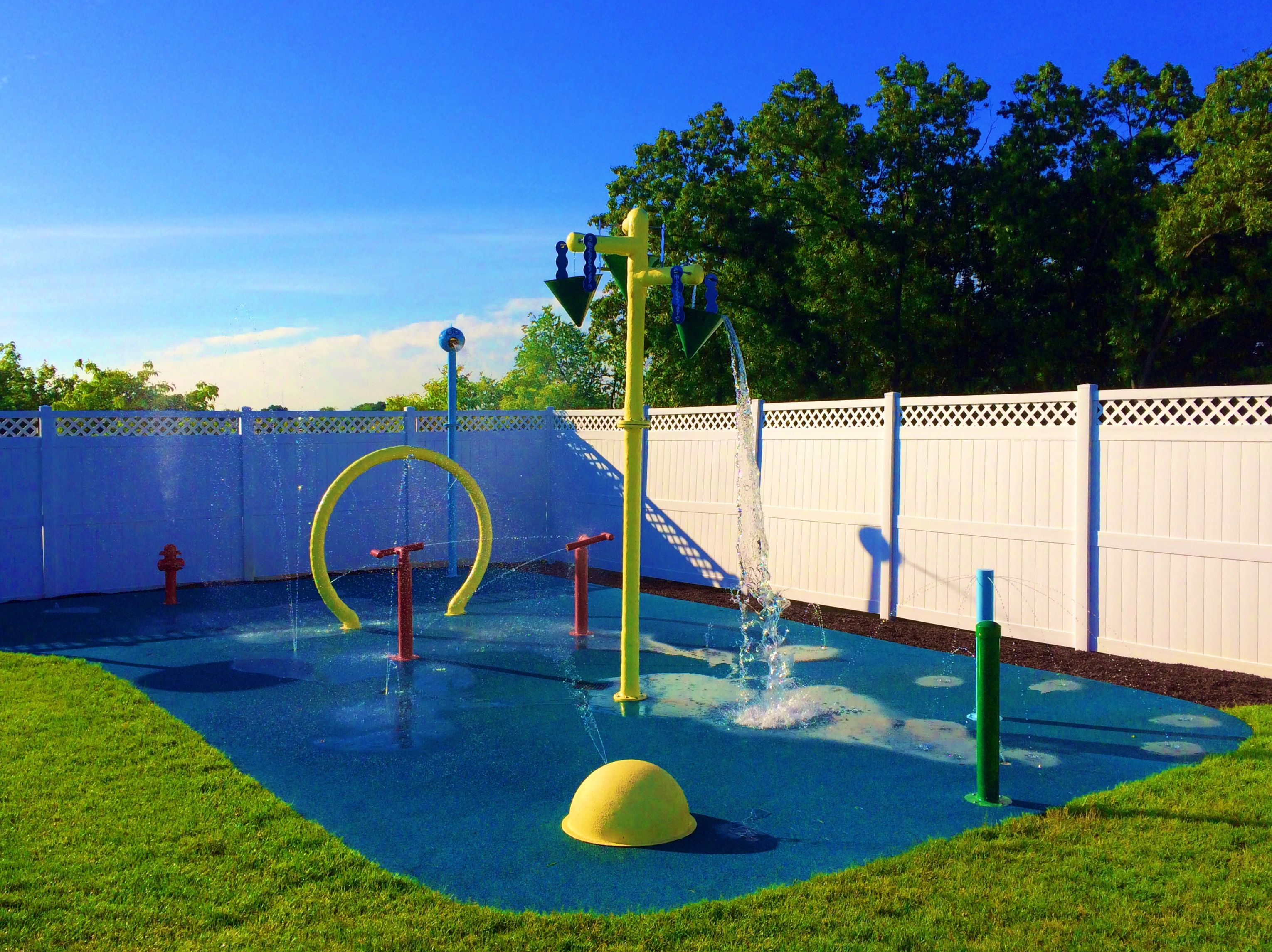 this swimming pool club had us install this splash pad with 9