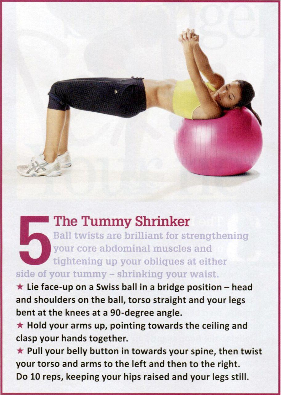 exercise ball.
