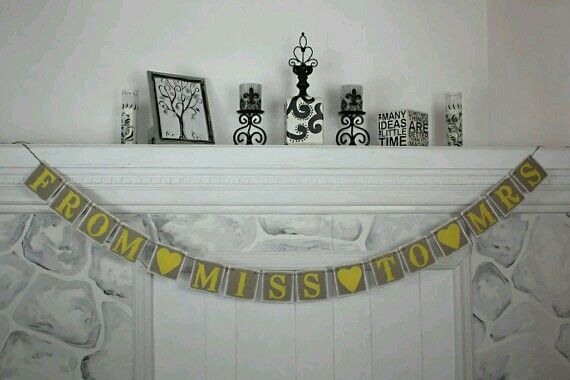 Bridal shower - without the yellow....