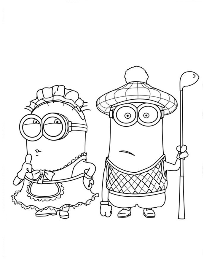 Coloring Book Minions : Girl minion coloring pages free printable color
