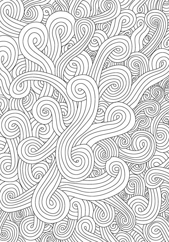 waves background adult coloring - Google Search | coloring images ...