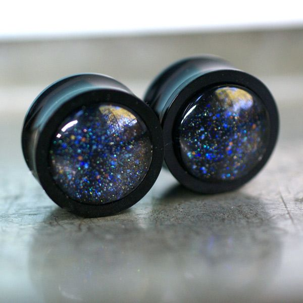 Night Sky Ear Plugs at shanalogic.com #gauges #plugs
