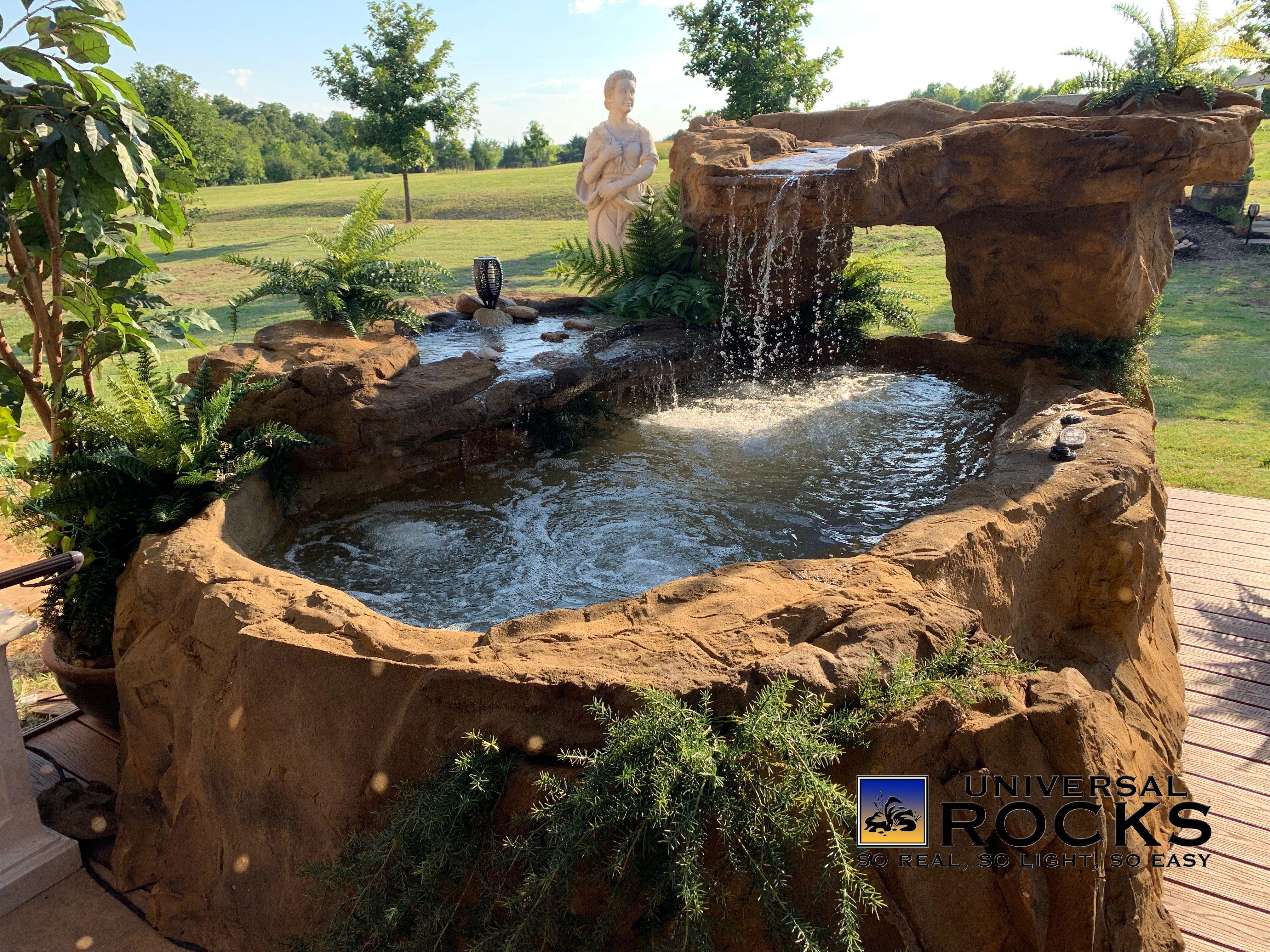 Above Ground Hot Tub Spa Universal Rocks Hot Tub Landscaping Spa Hot Tubs Hot Tub