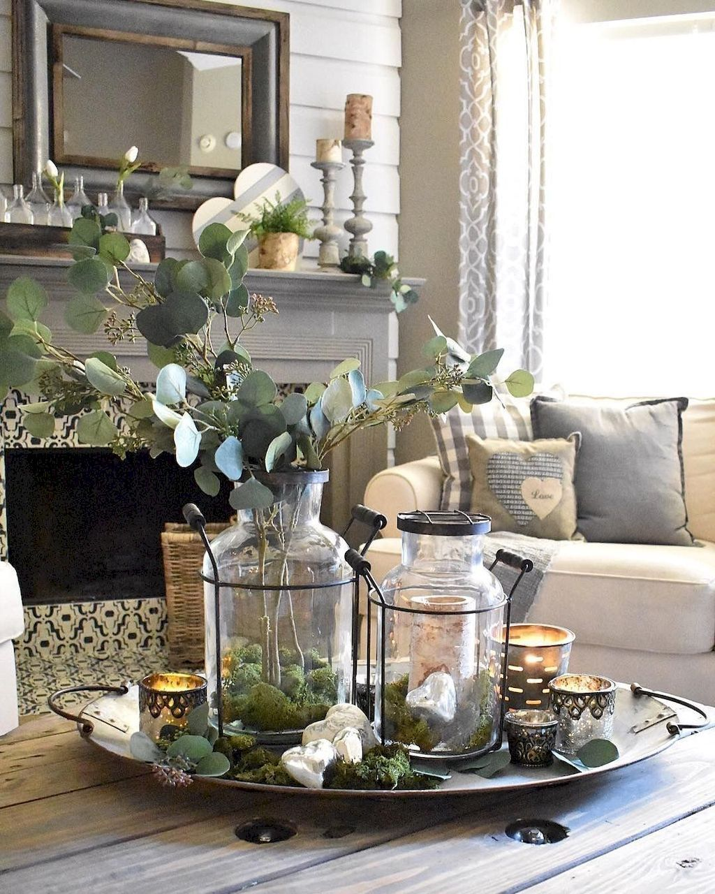 60 Incredible Farmhouse Living Room Makeover Decor Ideas