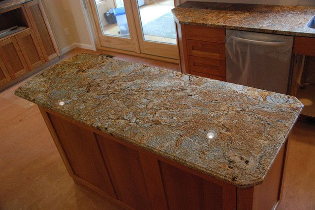 Golden Crystal Granite Like This Color With Light Maple Cabinets