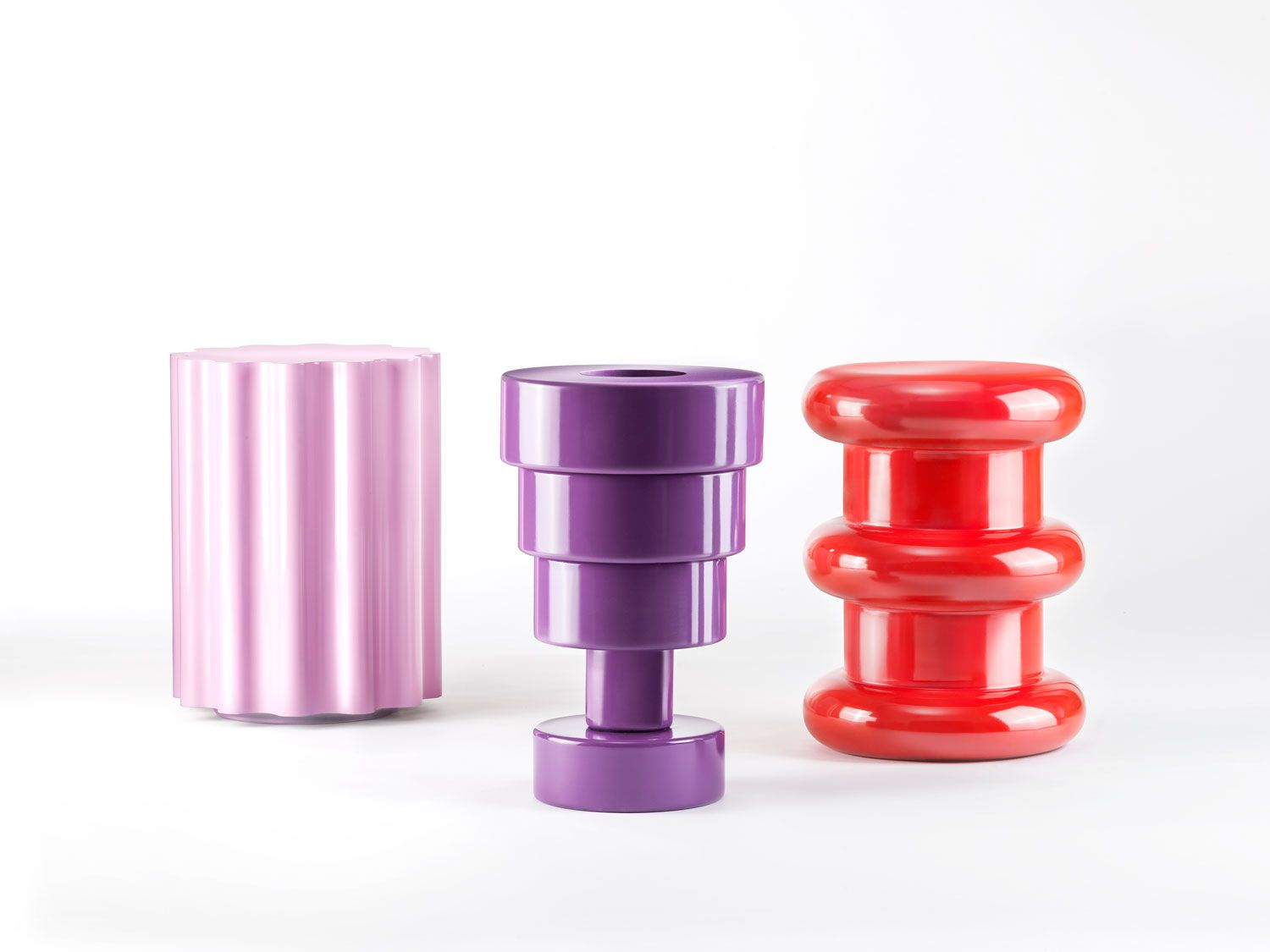 Kartell Memphis Stools & Vase by E Sottsass - Best of Salone Internazionale del Mobile 2015 | Yellowtrace