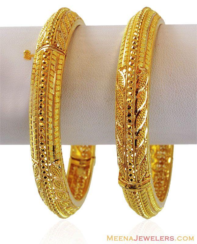 22k Gold Ladies Kada Baka16589 Gold Jewelry Fashion Gold Bangles Design 22k Gold Bangles