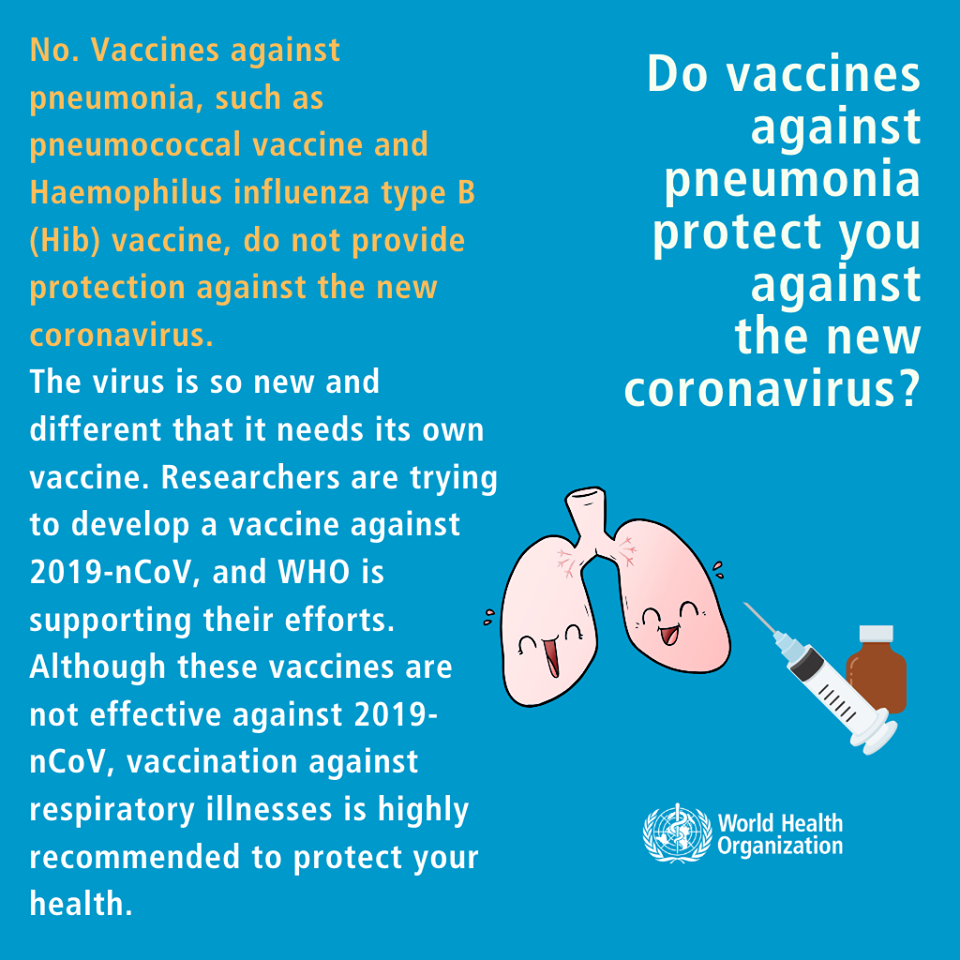 Q Do vaccines against pneumonia protect you against the