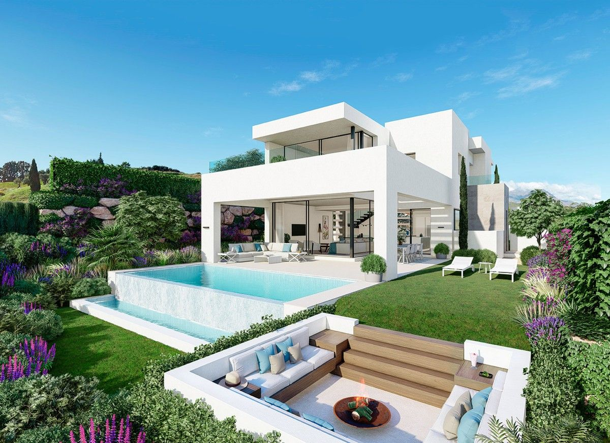 11 Luxury Villas And Semi Detached Homes On A Gated Community Made With Loving Detail And The Finest Materials Celeste Luxury Villa Marbella Property Villa