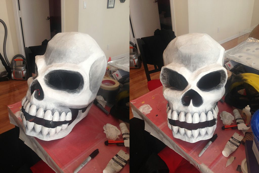 Using Spray Paint And Acrylic Paint On Paper Mache Masks And Interesting Paper Mache Masks To Decorate
