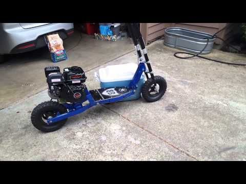 Gas Powered Scooter 212 Cc Predator With Go Cart Wheel 9 5 X12