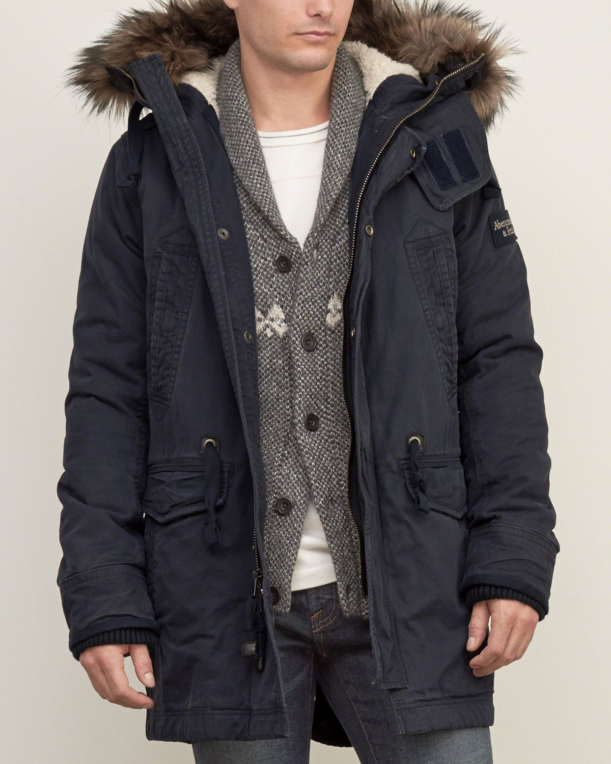 Mens Sherpa-lined Premium Fishtail Parka | Mens Outerwear ...