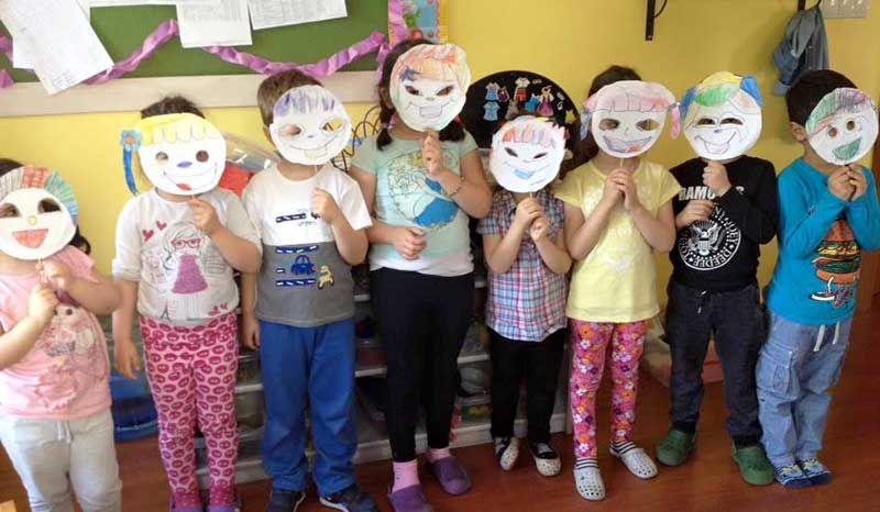 Anaokulu Dünya çocukları Maske çalışması Okul öncesi Faaliyet