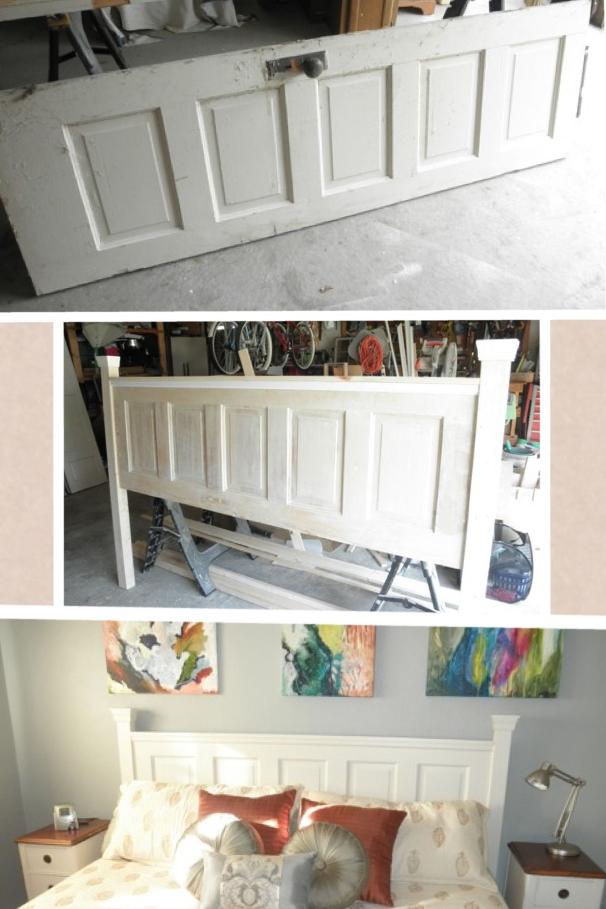 Pin By Jodie Smith On Diy Bedroom Diy Headboard From Old Door