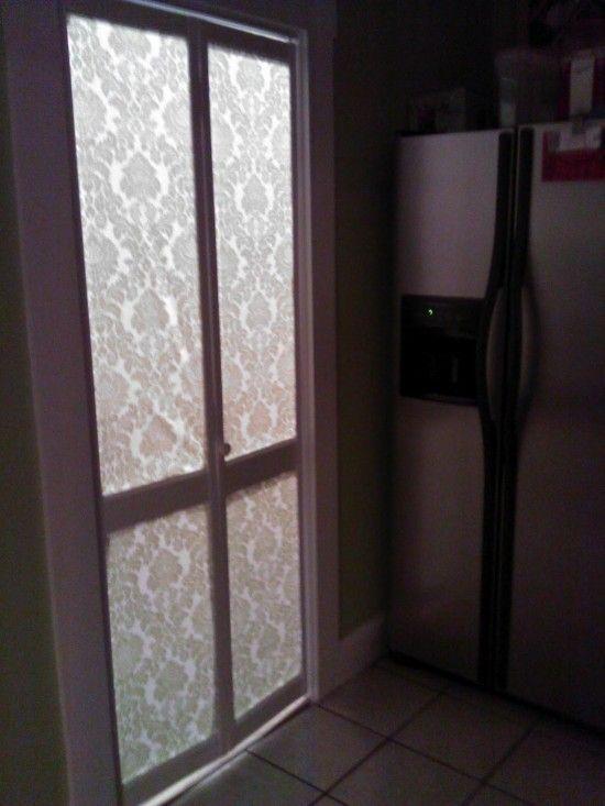 DIY bi-fold slat door --\u003e replace slats with fabric & Turn a crappy bi-fold door into a glowing damask enchantment | Bi ... Pezcame.Com