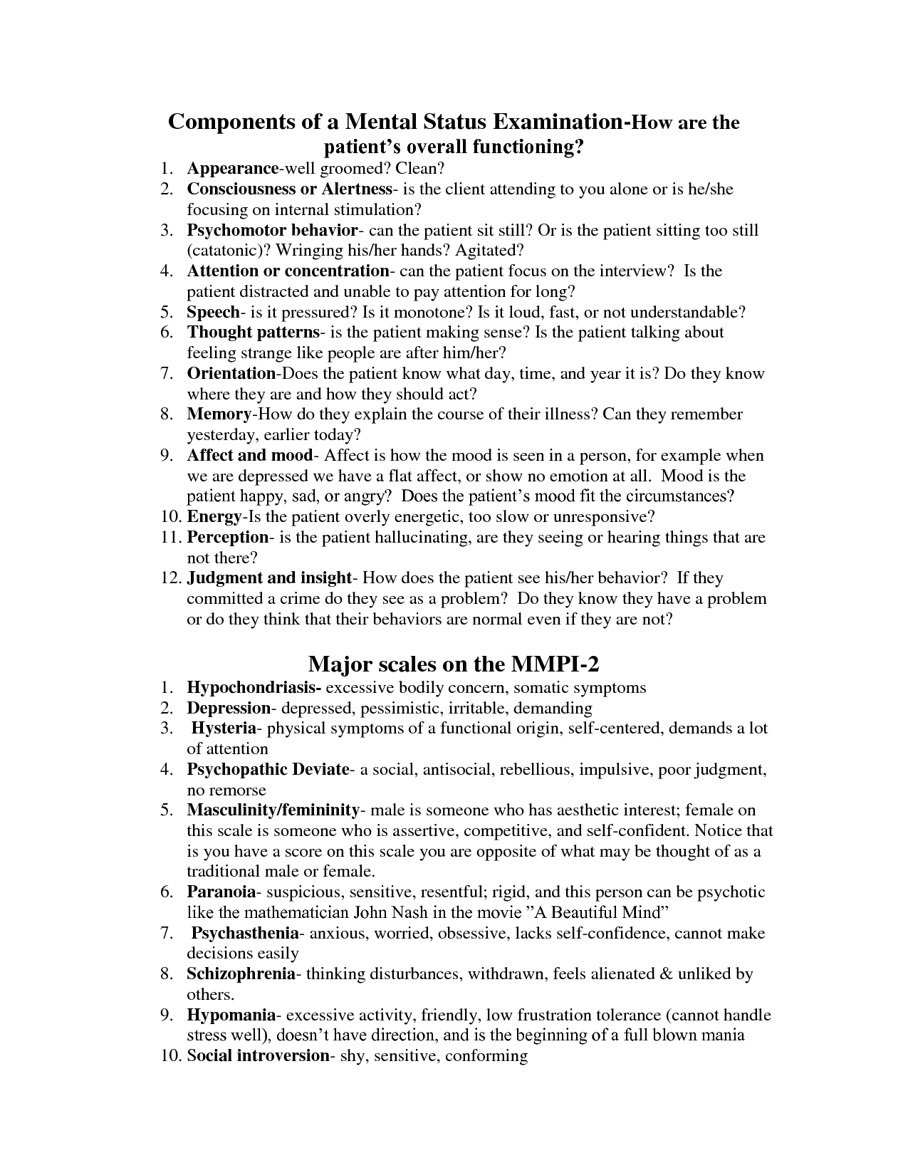 Mental Health Counseling topics for english papers