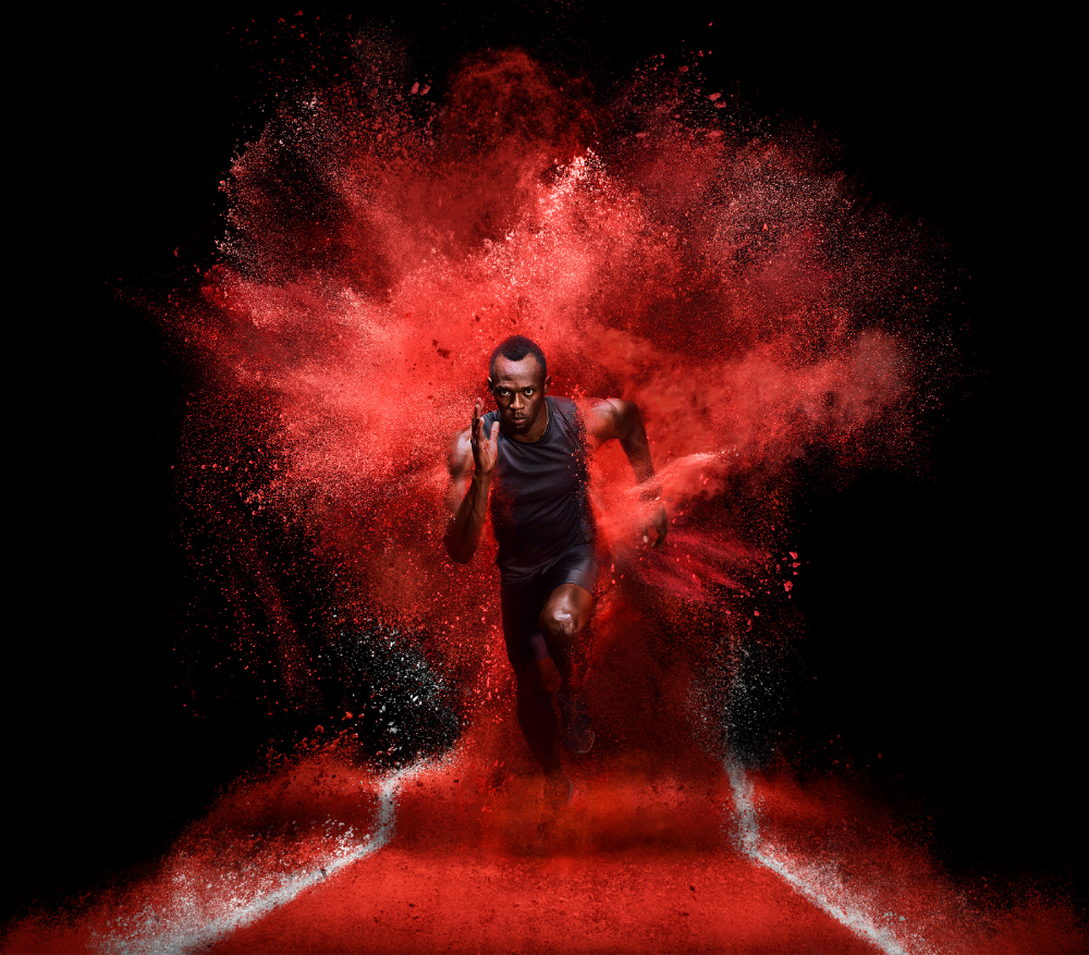 Usain Bolt Explosion on Behance in 2020 | Usain bolt ...