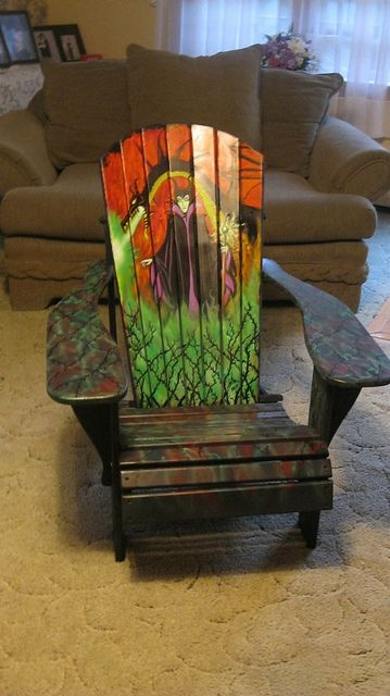 Magnificent And Dragon Painted Adirondack Chair 500 00 Hand Painted Chairs Painted Chairs Hand Painted Furniture