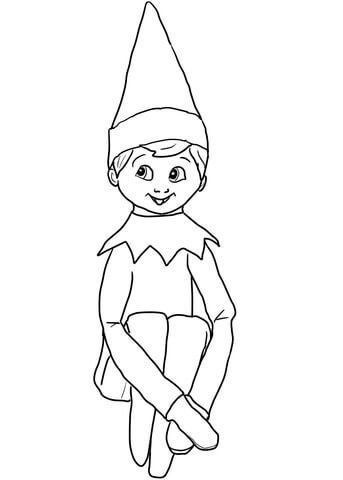 Christmas Elf On Shelf Coloring Page From Elf On The Shelf Category Select F Christmas Coloring Sheets Santa Coloring Pages Printable Christmas Coloring Pages