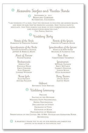 One Page Wedding Ceremony Programs Pretty Header With Your Names The Ceremony Location And Ceremony Programs Wedding Ceremony Programs Wedding Programs