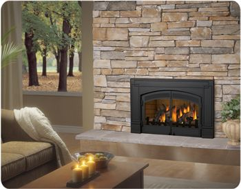 demo what currently surrounds our fireplace and make this happen gas fireplace insertsopen - Natural Gas Fireplace Insert