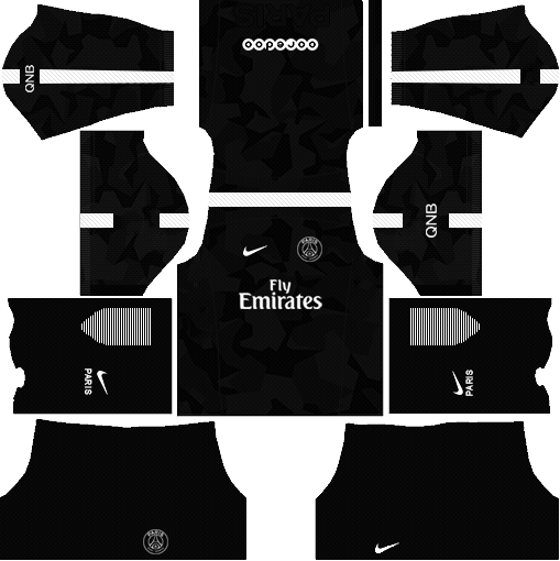 Dream League Soccer Kits PSG 2017-2018 {Paris Saint Germain