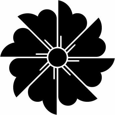 家紋 割り花菱車 Warihanabishiguruma 家紋 家紋 一覧 デザイン