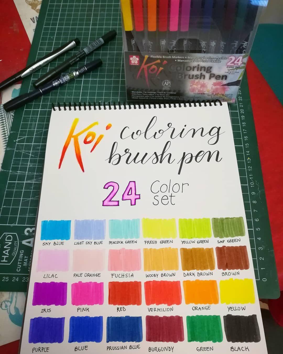 Muestra De Colores Sakura Koi Brush Pen Sakurabrushpen Swatches