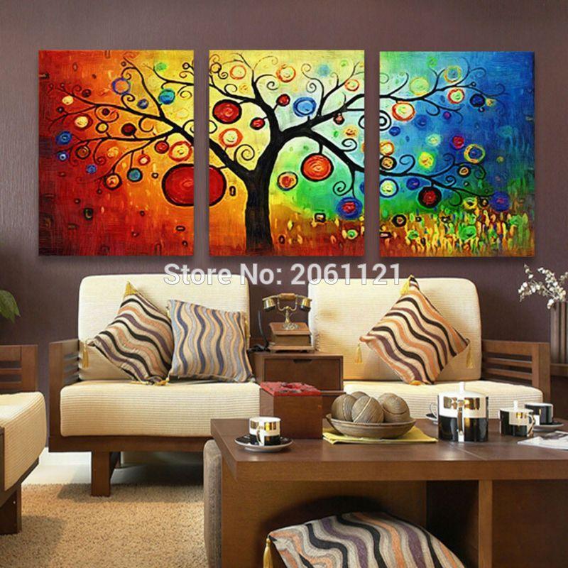 3 panel Lucky Tree modern abstract print