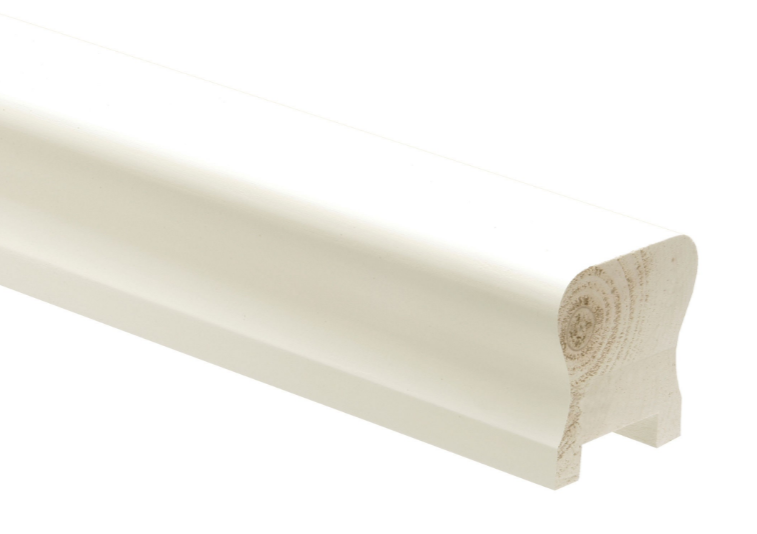 Best White Primed Handrail And Baserail 32Mm Staircase White 400 x 300