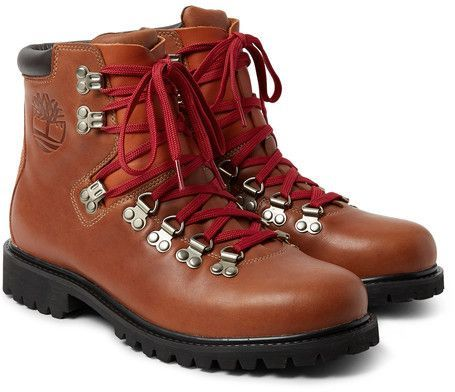 Waterproof leather boots, Mens designer