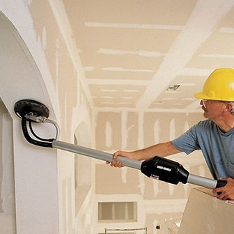 Drywall Sander to get rid of textured ceilings. Rent a