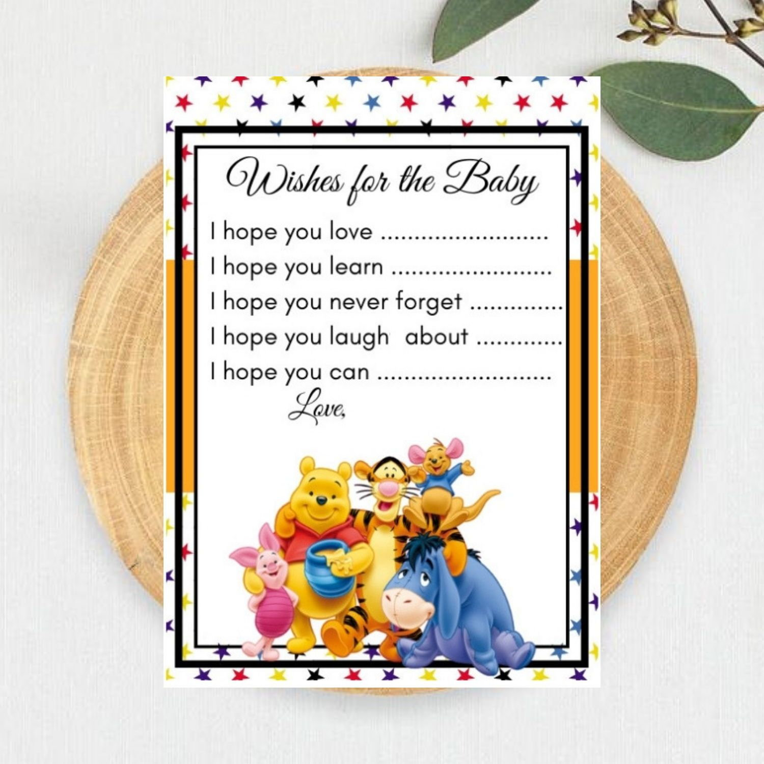 Winnie The Pooh Baby Shower Package Printables Baby