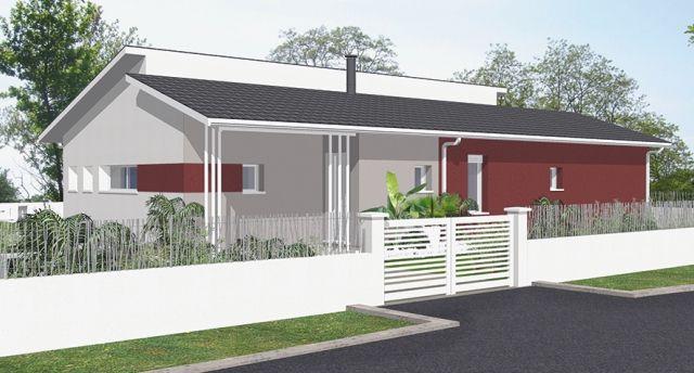 Maison Célia 102 m² - Maison moderne - IGC Construction plan