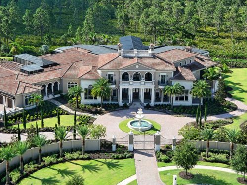 Estate Of The Day 16 5 Million Italian Mansion In Florida Italian Mansion Mansions Luxury Homes Dream Houses