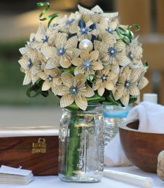 #papercraft #flowers #wedding  My wedding bouquet... made by me! Come check out other fun things I like to do with paper.