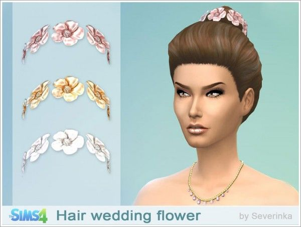 Sims by Severinka: Wedding hair flowers • Sims 4 Downloads